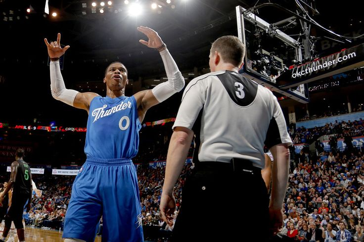 Oklahoma City's Russell Westbrook (0) cheers to fans during the NBA game between the Oklahoma City Thunder and the Minnesota Timberwolves at the Chesapeake Energy Arena,  Sunday, Dec. 25, 2016. Photo by Sarah Phipps, The Oklahoman