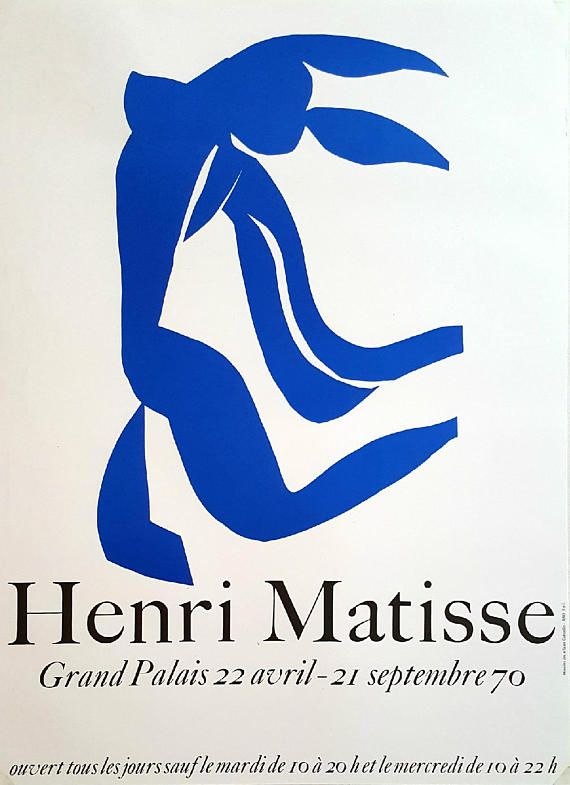1970 Henri Matisse Exhibition in Grand Palais Paris  Original