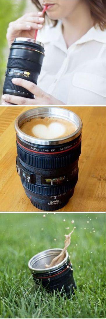 Camera Lens Coffee Mug ♥