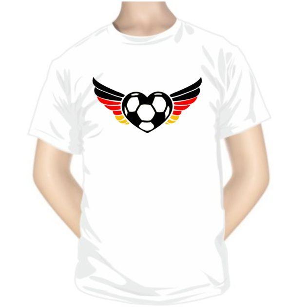 Tee shirt de sport: cœur - Allemagne -Pour les sportifs - SiMedio