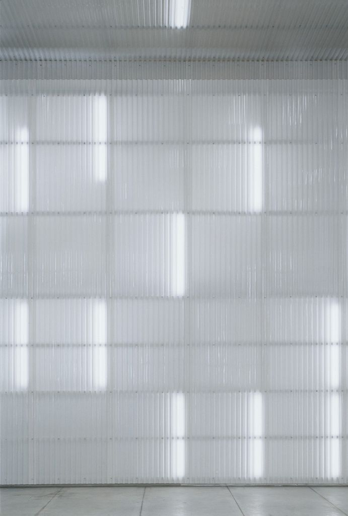 Striated Lights Behind Danpalon White Corrugated