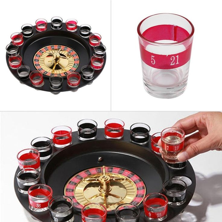 SDFC Popular Shot Glass Roulette Set Novelty Drinking Game with 16 Shot Glasses Party Game Stock Offer