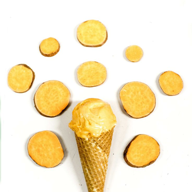 Sweet potato gelato.