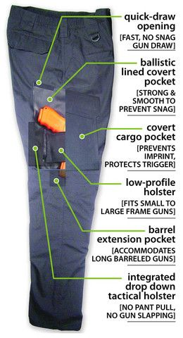Concealed carry pants.