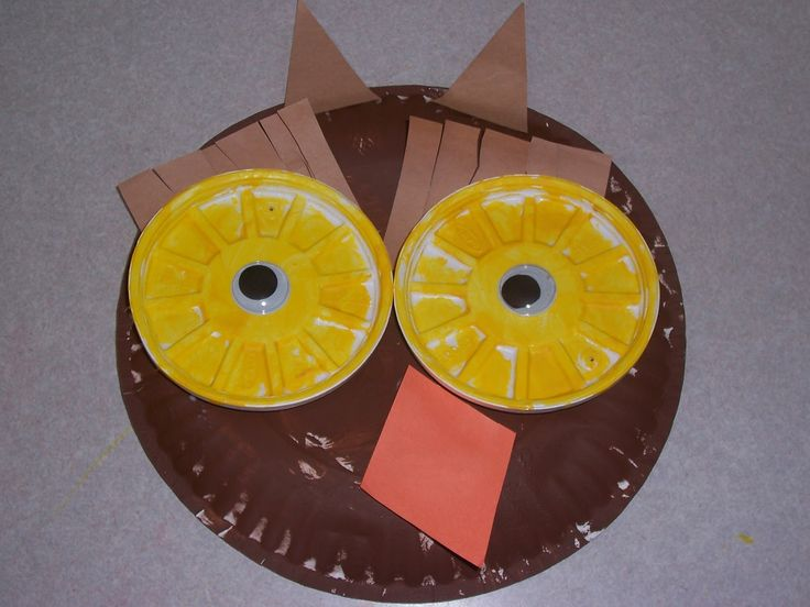 Because I Said So (and Other Mommyisms): Paper Plate Owl Craft