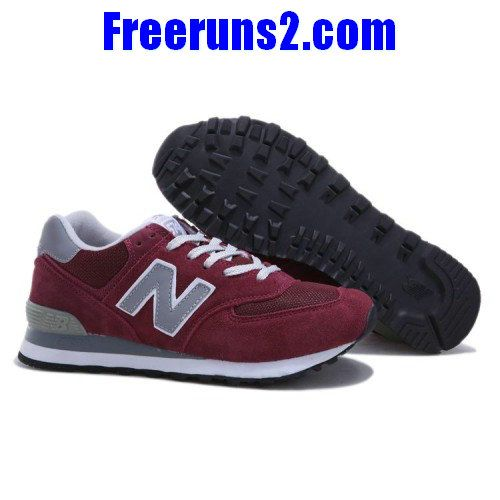 new balance hommes. new balance ml574bgd wine rouge gris blanc chaussures hommes