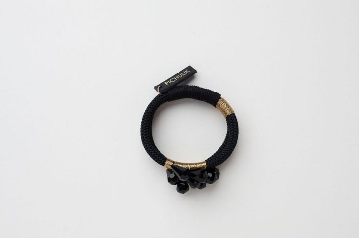 Black Feathered Bracelet Buy Online: www.pichulik.com/shop