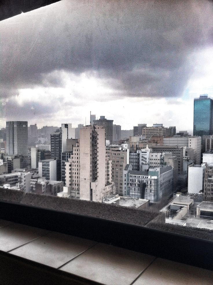 The view from my office! Magnificent Johannesburg