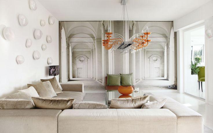 South Scandinavian style white living room, Barovier & Tosco. http://www.kenisahome.com/blog