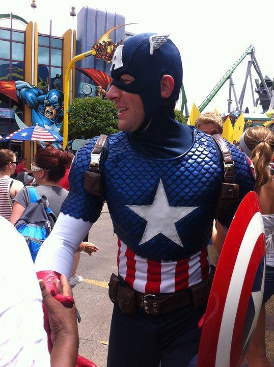 Captain America At Universal Orlando Cosplay Pinterest