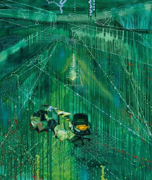 Jon Cattapan. Imagine A Raft (Hard Rubbish 1)', 2011. Oil and acrylic on linen, 195 x 168 cm.