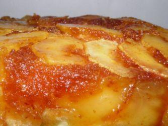 Torta invertida de ricota y manzana