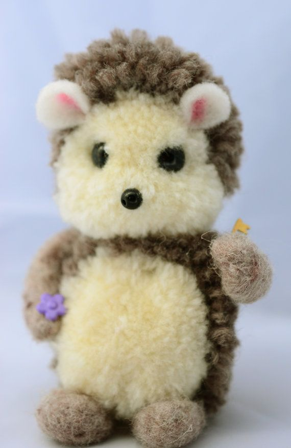Woolen Pom Pom HedgeHog by innercreatures