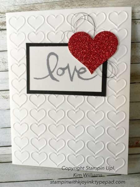 Stampin Up Valentine Card Watercolor Words Stamp Set Kim Williams
