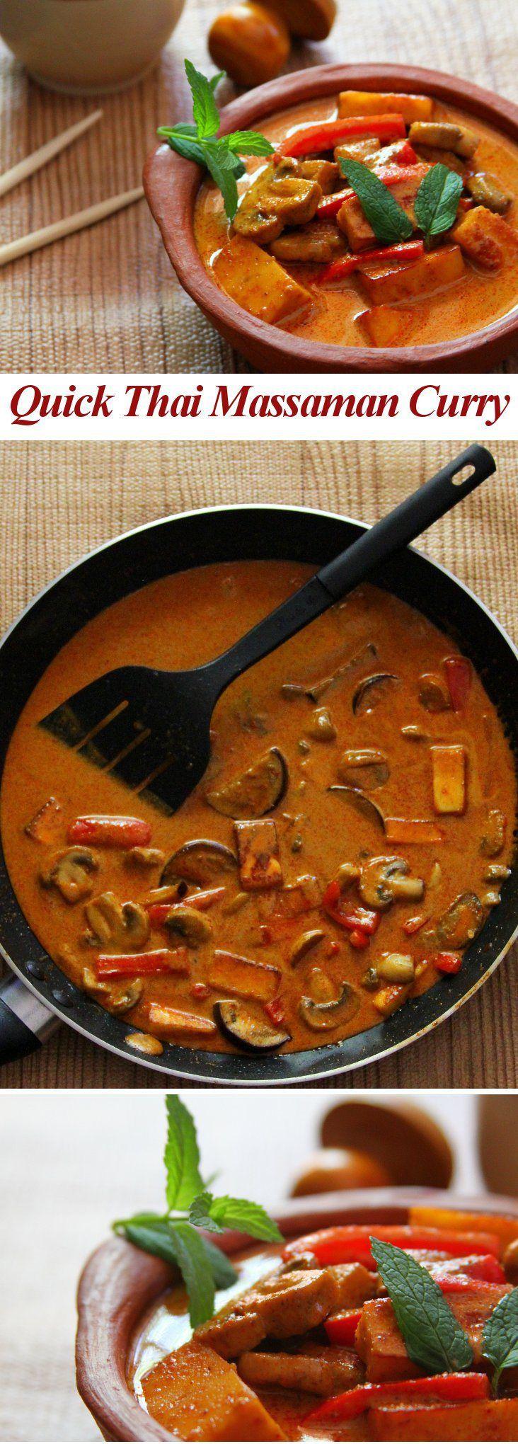 Quick Thai Massaman Curry Bleh.. Eggplant..