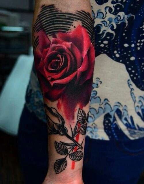 Lovely rose. ..inkedmag.com