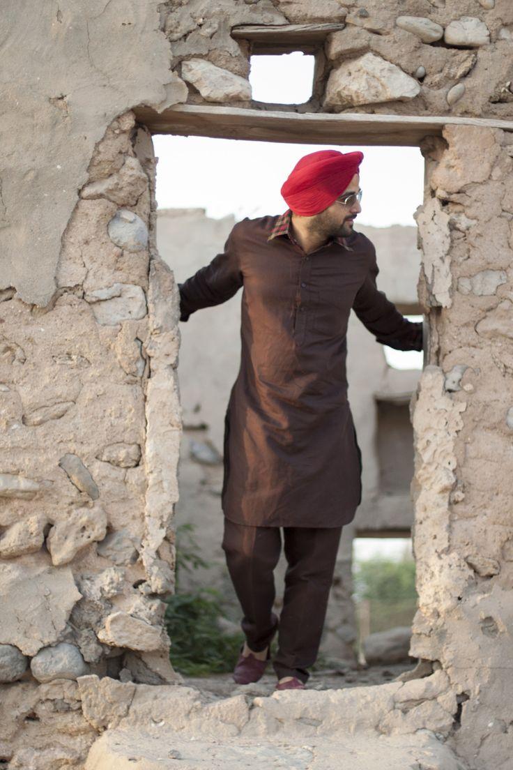 Sikh Men Fashion Style Urban Sardar Traditional Sikh Wear Kurta Pajama Modern Twist to It.