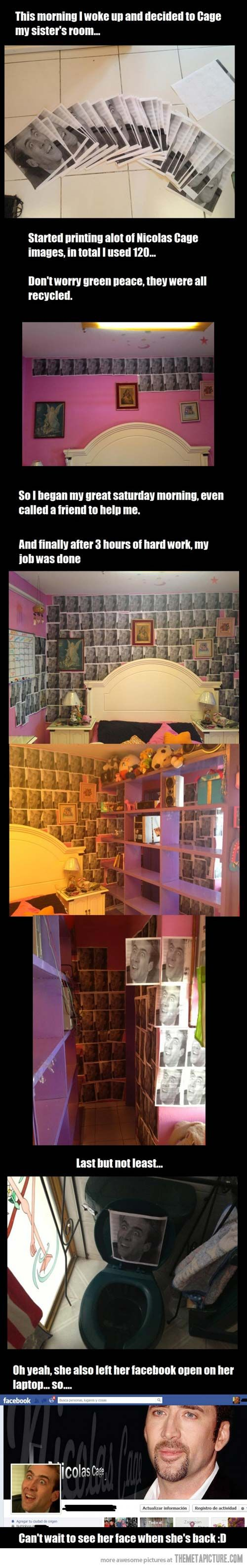 Evil brother Cages his sisters room cheap Pranks at…
