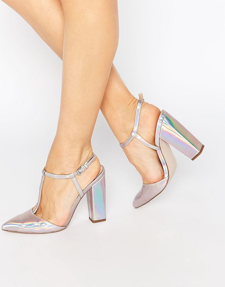 Shop Little Mistress Mollie T-Bar Pointed Heeled Shoes at ASOS.