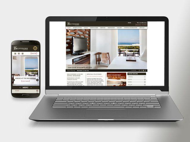 Mykonos Hotel Web Design, by Mozaik