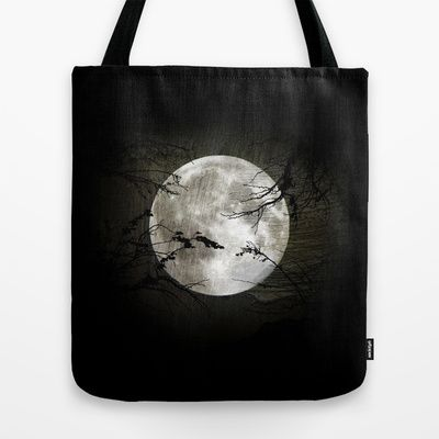 The moon in my hands Tote Bag by Oscar Tello Muñoz - $22.00