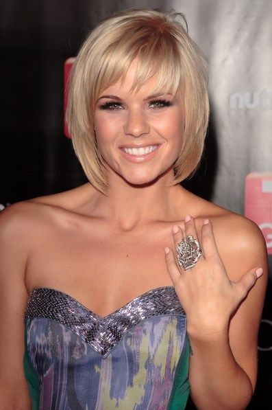 Bob Hairstyles : Good Short Bob Hairstyles With Bangs For Straight Sleek Hair In Golden Blonde Color 2016 Short Bob Hairstyles with Bangs for Fine Hair Short Bob Haircuts 2016. Layered Bob Hairstyles Bangs.