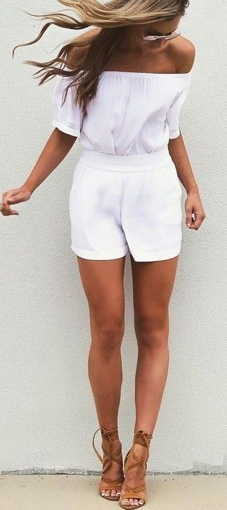 #summer #fblogger #outfits   White + Tan                                                                             Source