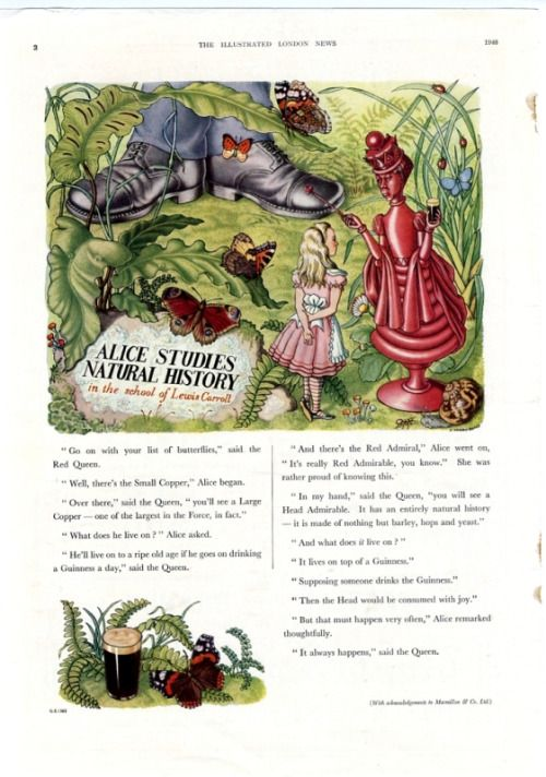 1948 GUINNESS ADVERT ALICE AND THE COPPER A GROVES RAINES
