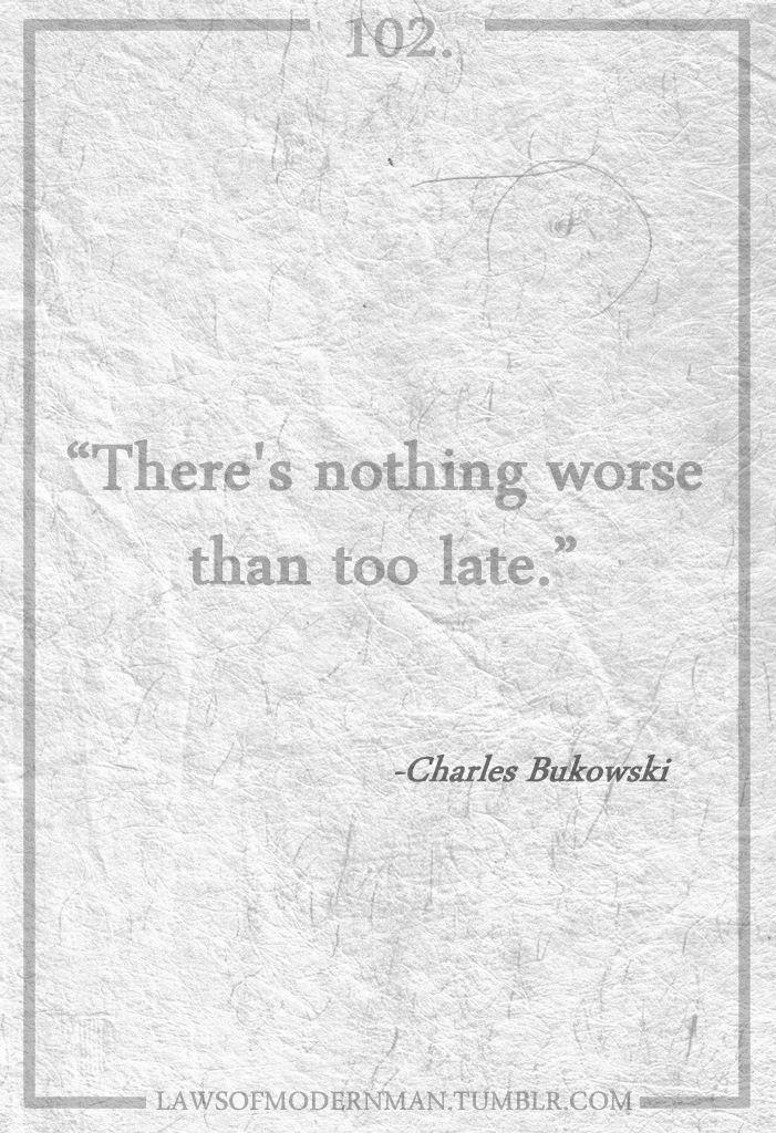 Too late...