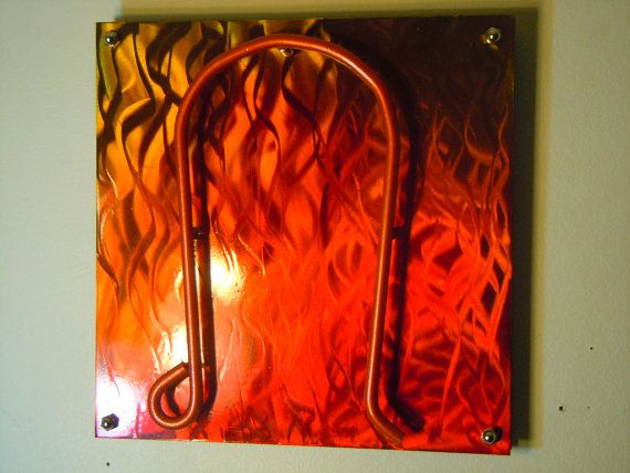Leo Zodiac Symbol Metal Wall Hanging with grind by jtbmetaldesigns