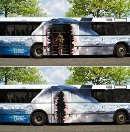 Clever bus graphics in Copenhagen!