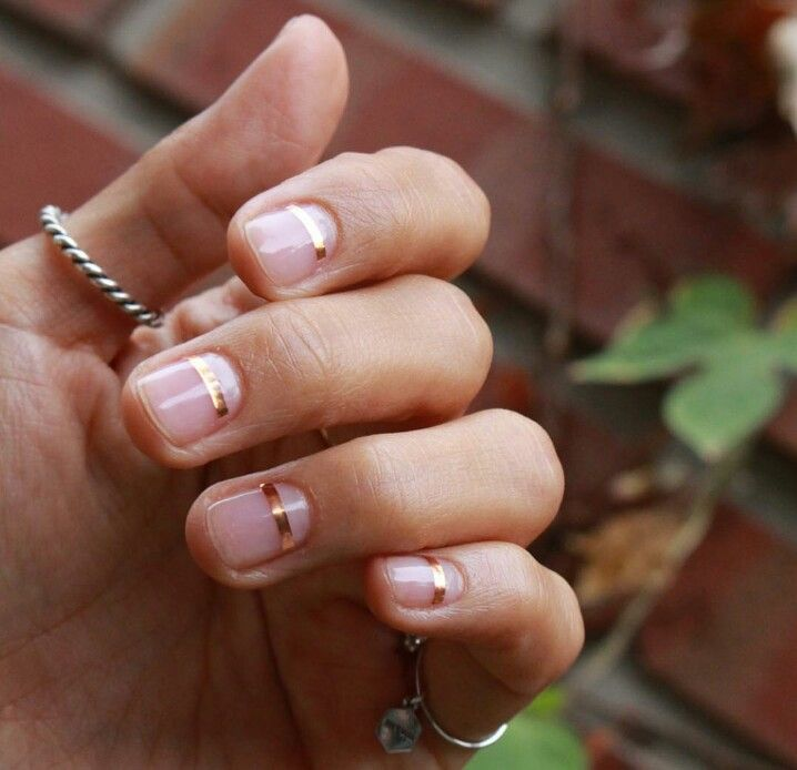 This is the kind of manicure that looks so easy - until you try to pull it off! All about neatness & proportion...