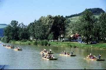 Flößer auf dem Dunajec