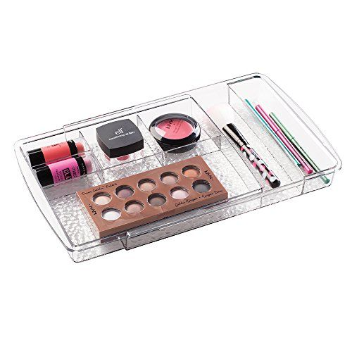 Bathroom Organization: mDesign Expandable Cosmetic Drawer Organizer for Vanity Cabinet to Hold Makeup, Beauty Products - Clear * Want to know more, click on the image.