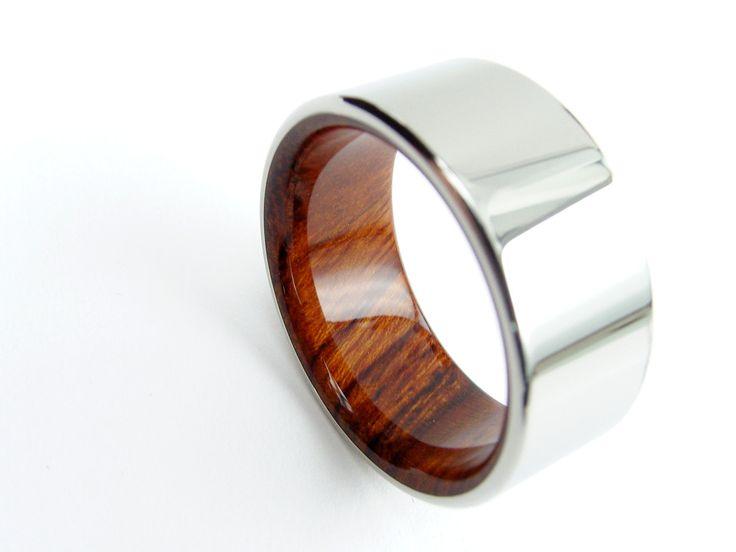 Wood and Titanium Ring