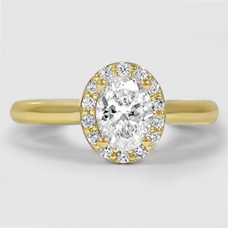 18K Yellow Gold Fancy Halo Diamond Ring (1/6 ct. tw.)