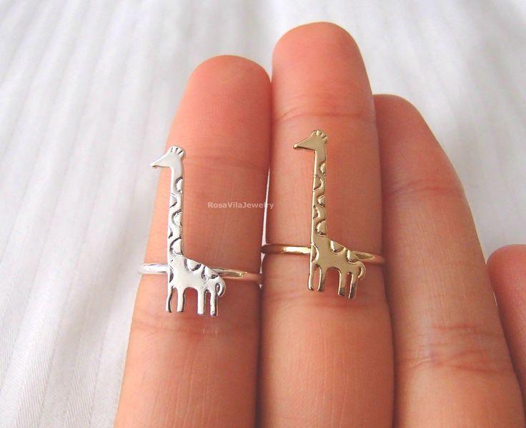 Dainty Giraffe Ring - Gold and Silver