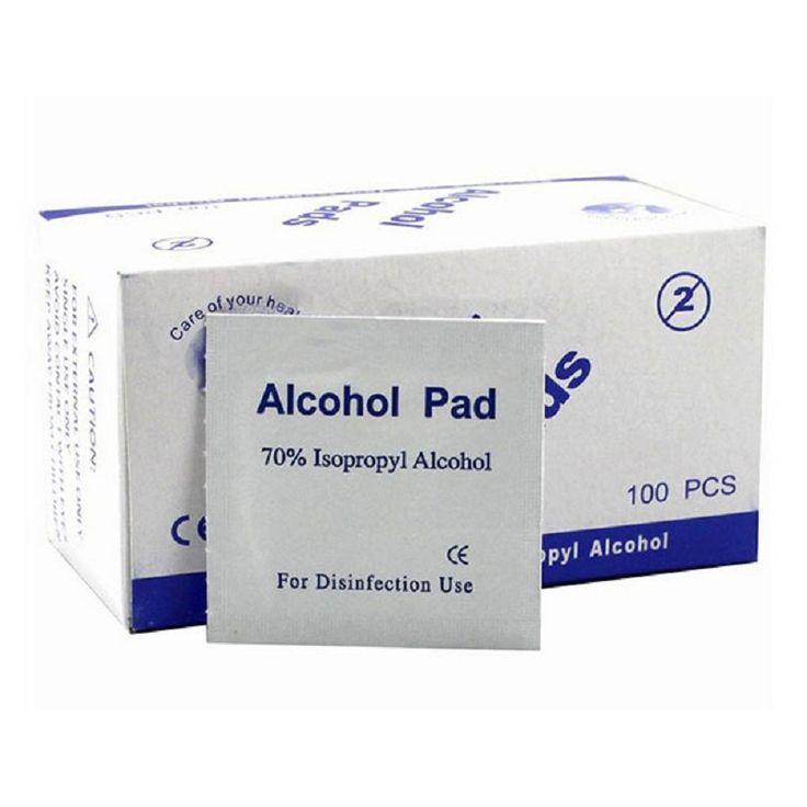 Portátil Útil 100 pçs/caixa Almofadas Toalhetes de Limpeza Esterilização Toalhetes Embebidos em Álcool Isopropílico a 70% de Primeiros Socorros Em Casa