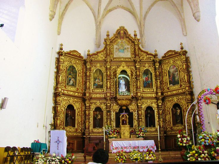 The altarpiece of the sanctuary of Our Lady of Izamal