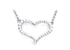 Heart Diamond Necklace with 36 little diamonds and 0,21 carat in total.  #Yorxs #Diamant #Halsketten