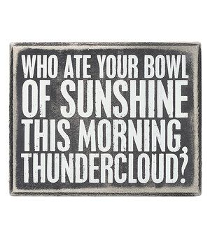 Love this 'Bowl of Sunshine' Box Sign by Primitives by Kathy on #zulily! #zulilyfinds