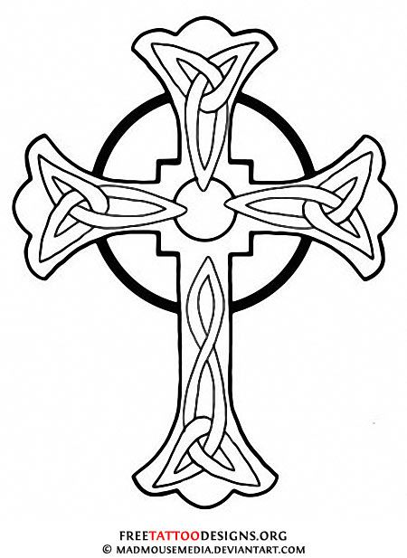 Simple Cross Line Art : Christian symbol black line art for kids tattoos