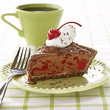 This Frozen Chocolate-Cherry Pie makes for a frosty indulgence in the summer or during the holidays! (And it's weight watchers!)