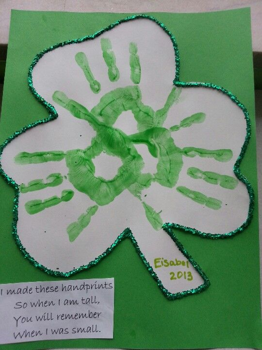 St. Patrick's Day craft we made at my preschool today :)