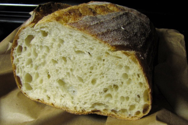 Sourdough Bread from Clear Flour Bread in Brookline, MA.  Stop by early for fresh, totally delicious baked goods.