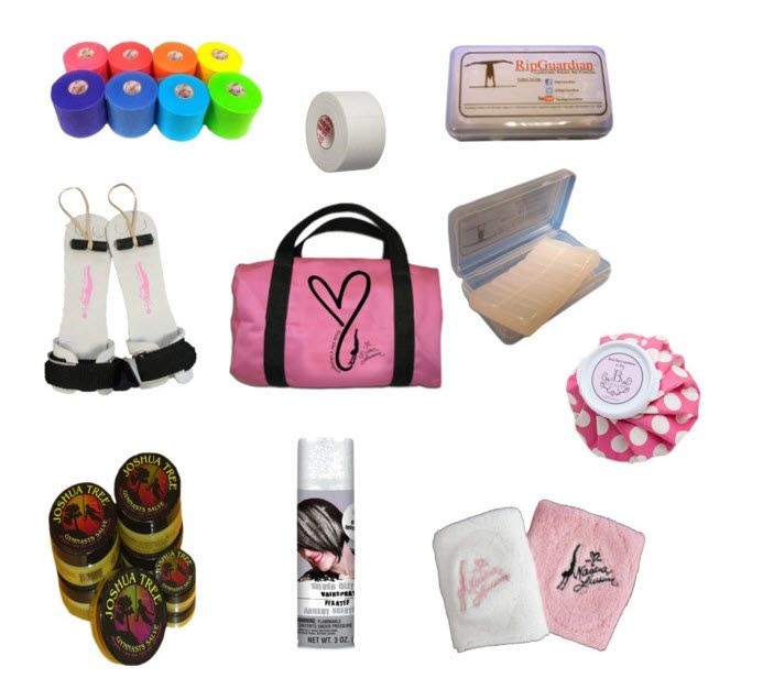 Gym Bag Essentials! 100 Gymnastics Gift Ideas #gymnast #gymnastics #holidaygifts