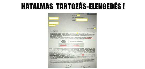 HATALMAS TARTOZÁS-ELENGEDÉS.