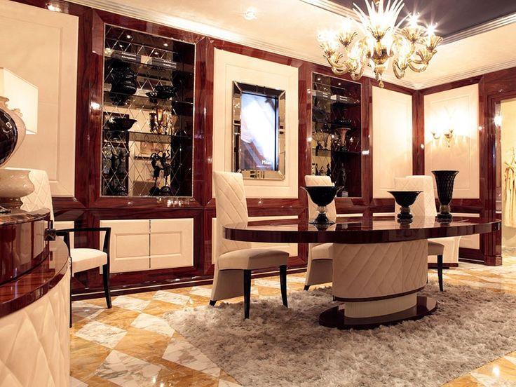 Boiserie in stile Sale da pranzo Dolce Vita Boiserie con Tv