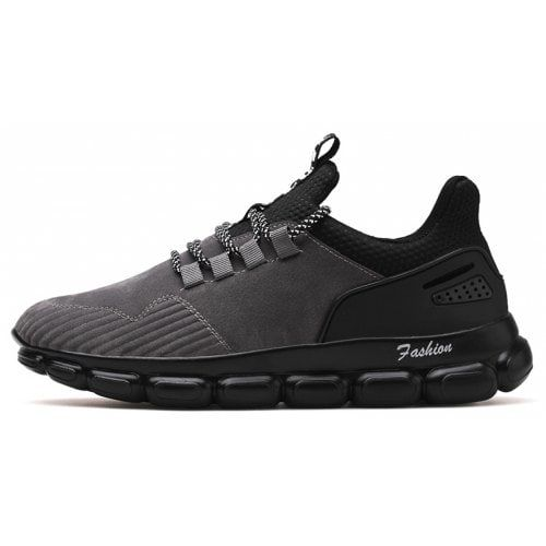 Male Soft Ultralight Tank Sole Athletic Shoes Gray 43 At