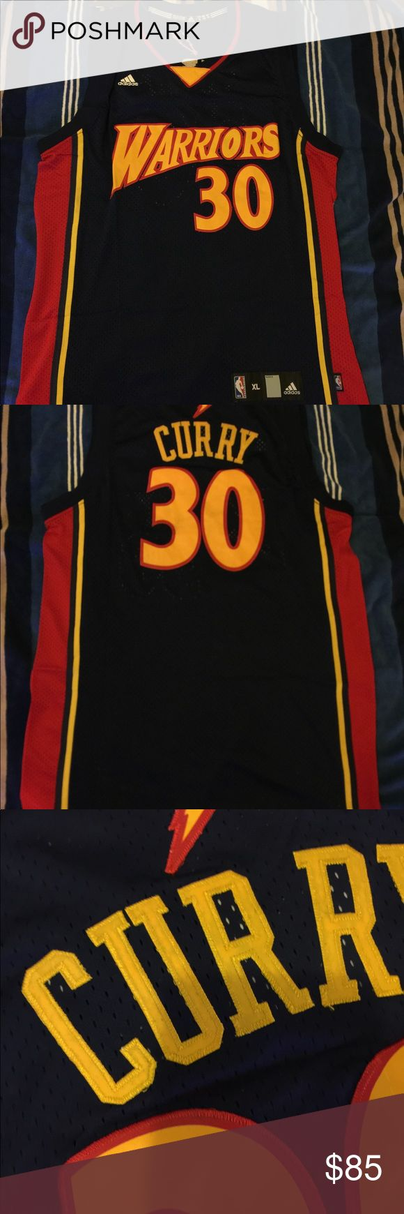 Curry #30 rookie Golden State swingman jersey 100% authentic brand new with tag, Stephen Curry #30 Rookie Golden State Warriors throwback jersey Adidas Shirts Tank Tops